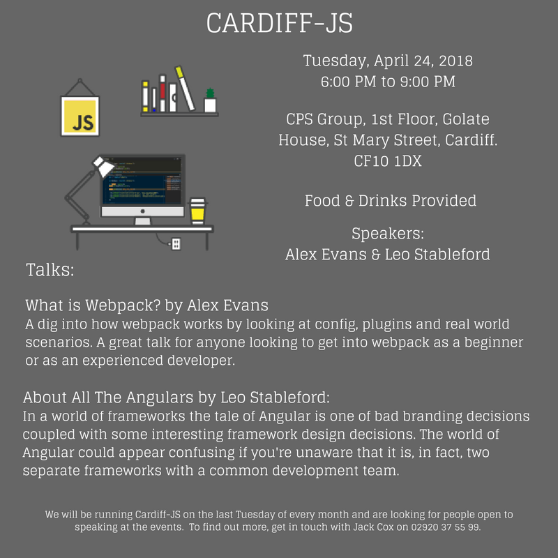 Come along to Cardiff-JS this April!